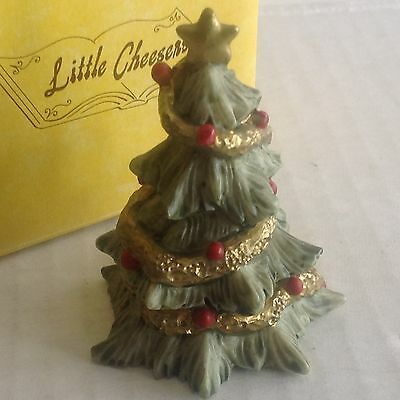 "Ganz Little Cheesers ""Christmas Tree"" figurines 1991 # 05330 New in Box"