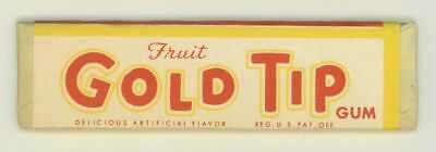 Vintage Gold Tip Chewing Gum Stick w Wrapper Sterling Mint Co