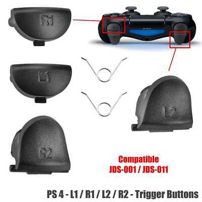 Playstation 4 PS4 Gamepad Tasten Set L1 L2 R1 R2 Button Trigger+2 Federn Schwarz