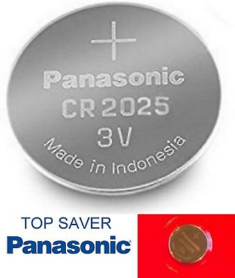 Panasonic CR2025 3v Lithium Coin Cell Battery Car Key Fobs Toys Remote Batteries
