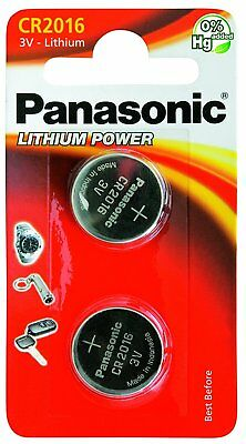 Panasonic 2 x CR2016 3v Lithium Coin Cell Car Key Fobs Toys Remote Batteries
