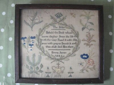 ANTIQUE 19th CENTURY SAMPLER
