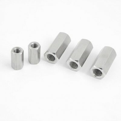 Threaded Rod Connecting Nuts A2 Stainless Steel Hexagon Allthread Bar Din934
