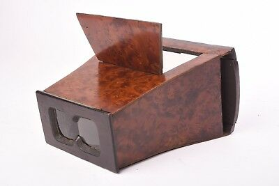 Wooden Stereoviewer for glass and card stereo view format 8,5x17 cm