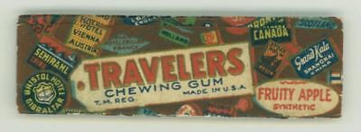 Vintage Traveler's Fruity Apple Chewing Gum Wrapper American Chewing Newark NJ