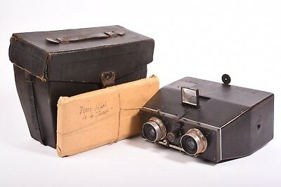 Stereo Camera Bellieni with Anastigmat Zeiss F/8 - 110mm Lens, Case and Glass