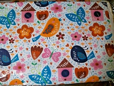 BTY B76 Bird Houses birds butterfly heart flower Flannel Material New yard