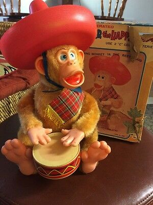 DRUMMER THE HAPPY CHIMP BATTERY OPERATED Made in Japan