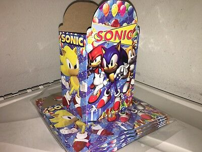 sonic the hedgehog Birthday Party Loot Boxes 10 Count