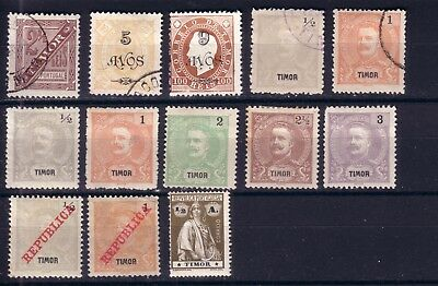 TIMOR 1893/1913 lot used/ unused/ lmh o/*/(*)