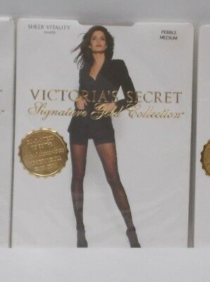 Victoria's Secret Signature Gold Collection Hosiery Sheer Vitality Shaper