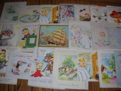 Lot of 20 Antique Vintage UNUSED Greeting Cards 40's 50's Bday and More (lot 17)