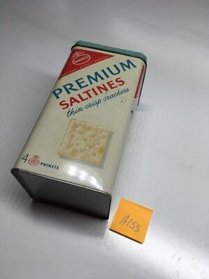 vintage nabisco premium saltine crackers kitchen tin canisters can & Lid A 155