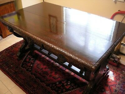 Gothic Pre-Victorian Library Table Circa 1860