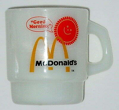 VINTAGE 1970 McDONALD'S FIRE-KING ANCHOR MILK GLASS COFFEE MUG