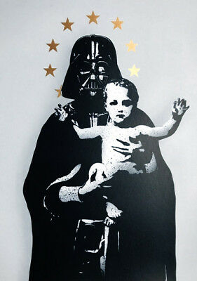 FAKE - My Vader (grey) - Stencil & Spray paint | Urban, Street art, Star Wars