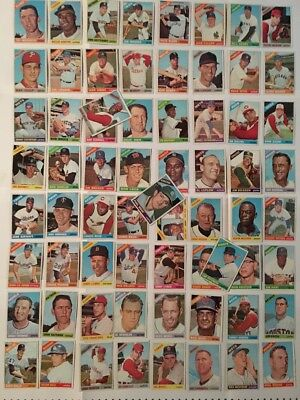1966 Topps Baseball Lot/Set-67 Different Cards-Excellent Condition