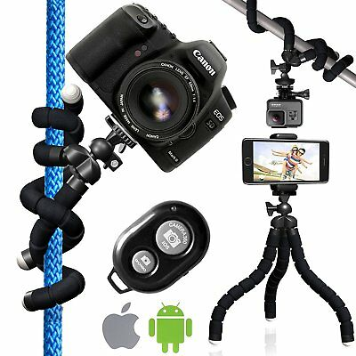 Nialik Flexible Tripod For Your Camera Phone Flashlight or GoPro Stand