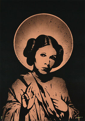 FAKE - Saint Leia (copper) Stencil & Spray paint | Urban, Street art, Star Wars