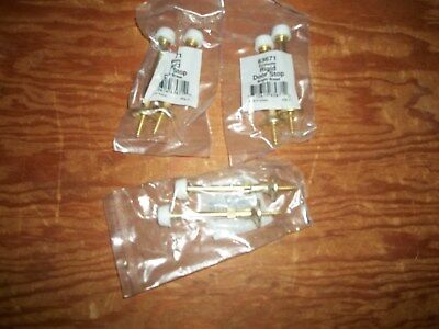 6 New Bright Brass Door Stops 3 Inchs New In The Bag Free Shipping!!!
