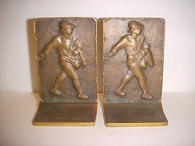 "Vintage The Sower Bronze Bookends 5 1/2"" tall x 3 1/2"" wide"