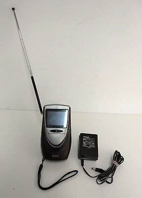 RCA Active Matrix Portable LCD TV Hand Held VHF-UHF Model L2501 with Charger
