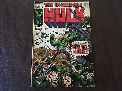 The Incredible Hulk #120 - NO RESERVE AUCTION!!!! Silver Age Marvel Comics, 1969
