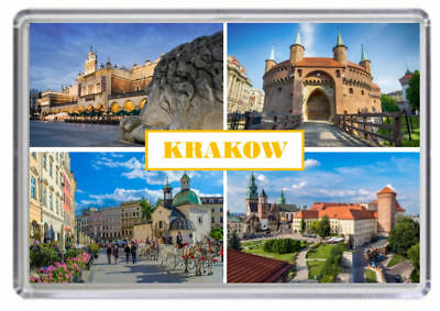 Krakow, Poland Fridge Magnet 01