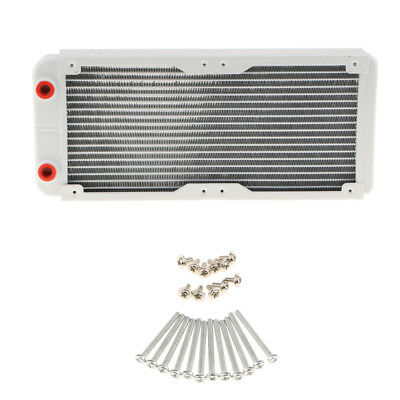 240mm Laptop Computer Radiator Water Cooling for CPU LED Heatsink Alloy G1/4