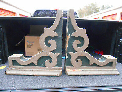 Huge Pair Antique Wood Corbels  Architectural Salvage Victorian Ornate
