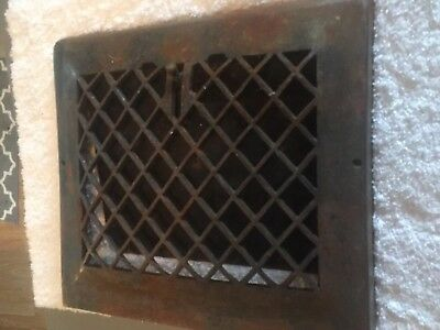 Vintage Metal Wall Heat Grate Register Vent