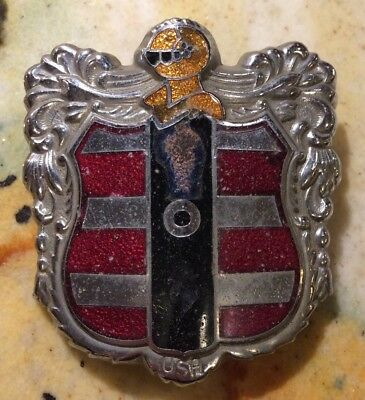 1950s Dodge Coronet Emblem Car Grille Badge Enameled Knight Fox Company