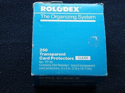 250 Rolodex The Organizing System Clear Transparent Card Protectors Cover TP-35
