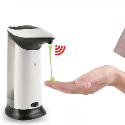 400ML Hands Automatic IR Sensor Stainless Steel Touchless Soap Liquid Dispenser