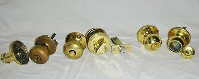 Lot of Vintage Brass Tone Metal Turn Door Knobs Parts and Pieces