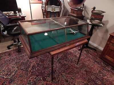Antique Country Store mahogany counter top Showcase Display Case