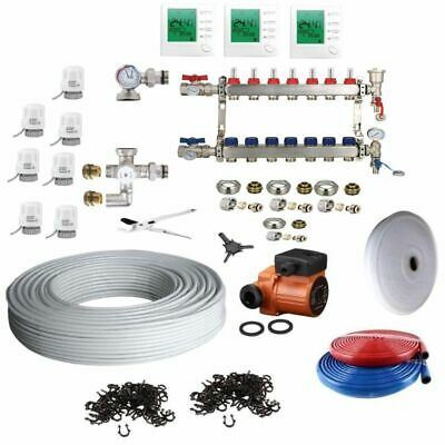 Underfloor Heating Multi Zone/Room KIT - Water Wet 5 Layers Pipe 15-140 SQM