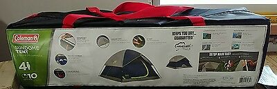 Coleman Sundome 4 Person Outdoor Hiking Camping Tent w/ Rainfly Awning | 9' x 7'