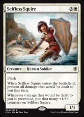 1x SELFLESS SQUIRE - Rare - Commander - MTG - NM - Magic the Gathering