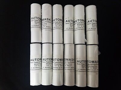 """12 Rolls 72""""x 90' Plastic Masking Film For Painting And Auto Body Masking Film"""