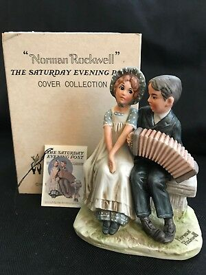 "Norman Rockwell NR-7 Lovers Dave Grossman 5"" Figurine with Original Box & Tag"