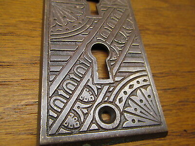 Old Eastlake ?? Brass ? Bronze ?? Nice Ornate Door Plate Escutcheon...
