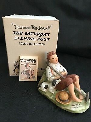 Norman Rockwell Lazybones NR8  Dave Grossman Original Box and Tag