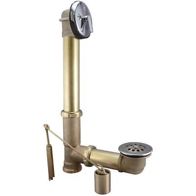 Keeney 1-1/2-in Chrome Triplever with Brass Pipe bath drain