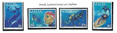 1998 Malta MNH - Int. Year of the Ocean SET SEE SCAN MNH.