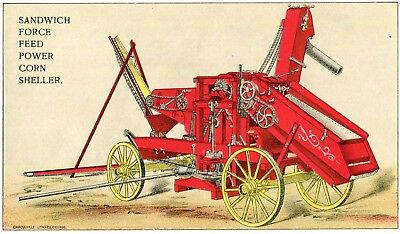 Sandwich IL Sandwich Force Feed Power Corn Sheller Trade Card Awesome!!