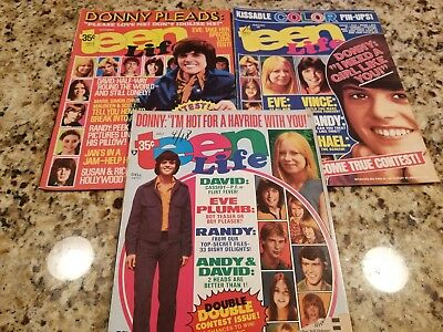 Vintage Lot Of 2 Teen Life Magazine 1974-1975 Donny Osmond/david Cassidy