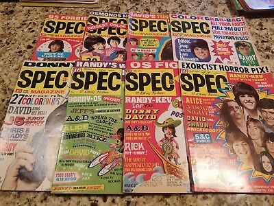 Vintage Lot Of 8 Teen Spec Magazine 1971-1974 Donny Osmond/david Cassidy