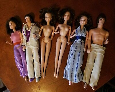 Donny and Marie Osmond Dolls - Mattel - 1960's Lot of 6