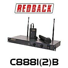 Redback Dual Channel UHF Wireless Microphone System With 2 Handheld Mics